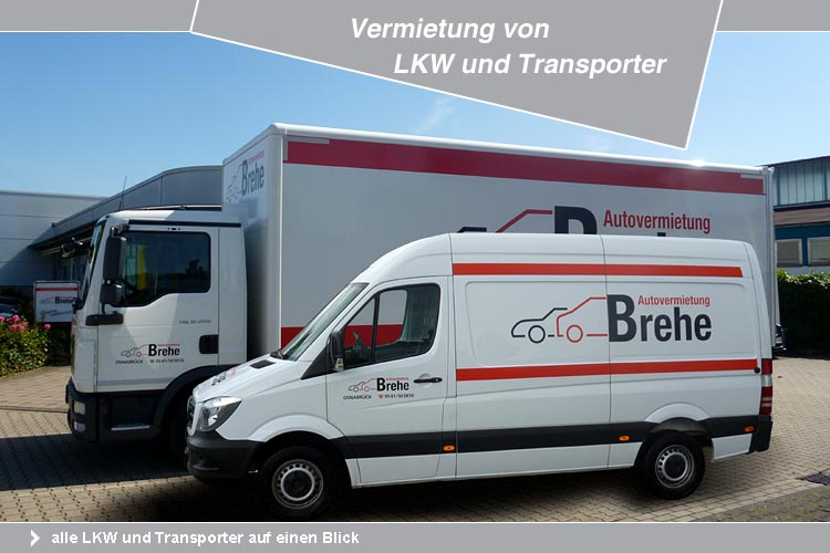 autovermietung brehe autovermietung f r pkw lkw kleinbusse transporter k hlwagen und. Black Bedroom Furniture Sets. Home Design Ideas